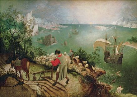 Bruegel the Elder, Pieter: Landscape with the Fall of Icarus. Fine Art Print/Poster. Sizes: A4/A3/A2/A1 (003574)